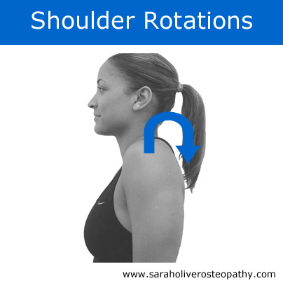 Gentle exercise for stiff shoulders, click through for full instructions