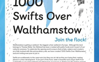 We're in the 1000 Swifts project for E17 Art Trail