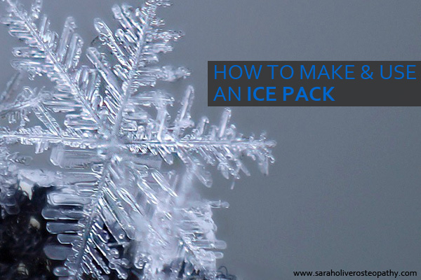 How to make and use a cold pack